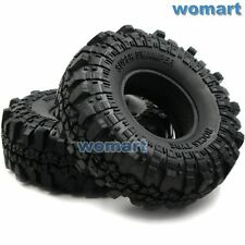 2pcs RC 1.9 Super Swamper Tires 110mm Fit 1:10 Rock Crawler 1.9'' Beadlock Rims
