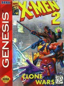 X-Men 2 Clone Wars Sega Genesis Great Condition Fast Shipping