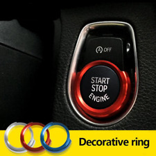 Start Stop Button Switch Ignition Cover Trim Surround For BMW Red