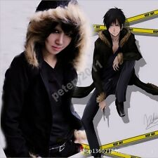 Anime Durarara!! Izaya Orihara Cosplay Costume Thicken Jacket Daily Hooded