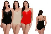 Women's Bodyfit Smooth Line Light Body Suit With Lace Trim Control Shapewear