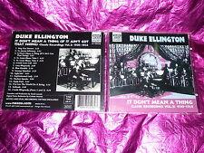 DUKE ELLINGTON : IT DON'T MEAN A THING : (CD, 16 TRACKS, 2001)