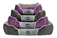 Heritage Luxury Dog Bed Super Plush Velvet Soft Washable Warm Pet Basket Cushion