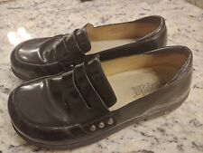 ALEGRIA TAYLOR BLACK PATENT LEATHER CLOGS size 37