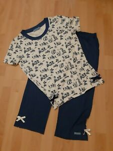 Schöner Sommer Damen Schlafanzug Pyjama Capri Hose von Lola Paltinger - Gr. 42