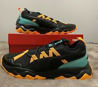 Puma Softfoam Ember TRL Black and Orange Trainers Sneakers size UK10 29cm