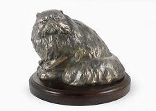 Perserkatze, Holz Statuette, Bronze, ArtDog, CH