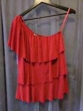 Suzie Couture Woman's Red formal Off Shoulder Top Sz Small