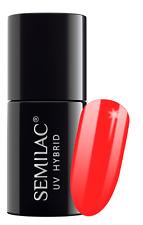 Semilac Hybrid GEL Polish 7ml Semibeats Margaret Collection Semibeats 518 Neon Orange 7 Ml