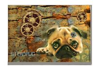 Pug Art Print Steampunk Steampug A4 A3 Matte or Gloss Birthday Mothers Day Gift