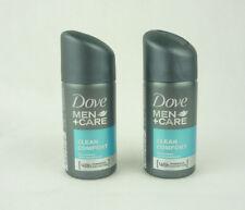 2x Dove Men + Care Clean Comfort Anti-Transpirant 48h Spray Reisegröße