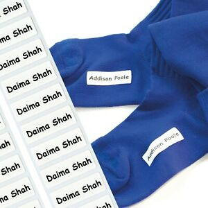 48 Stretch Tags Iron-on tags The ultimate nametape for socks and stretch fabric