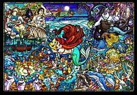 TENYO Story stained glass Ariel 500pcs 25x36cm Jigsaw Puzzles Brand New Japan