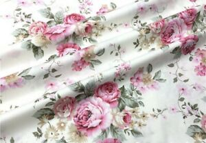 Vintage Waverly Cotton With Red Roses. Great Quality. BTY