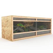 Terrarium 150 cm Holz Holzterrarium  Holzkäfig OSB Plexiglas Reptilien Schlangen