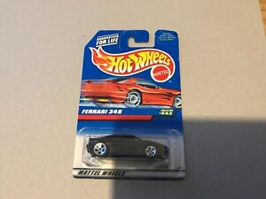 New hot wheels 1997 black Ferrari 348 - long card