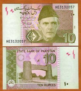 Pakistan, 10 Rupes, 2008, P-45c, UNC