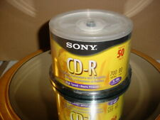*NEW* Sony CD-R High Speed 700MB/ 80 min Recordable 50 Pack Spindle 48x