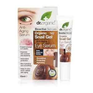 Dr. Organic Bioactive Healthy Ageing Snail Gel EYE Serum + Aloe + Vit E + Olive