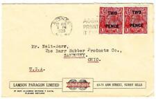 Australia SG#119(x2)-SYDNEY 27/AUG/1930-ADVERTISING-to USA