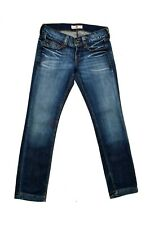 FORNARINA Lady JEANS Low waisted Stretch Slim Fit W29 Uk12 Faded Flared SUPER