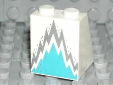 LEGO White Skirt Dress Slope Jagged Dark Azure Silver Ice Queen Minifigure 71013