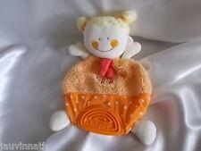 Doudou poupée orange, anneau de dentition, Babysun