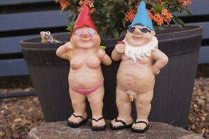 1 Pair  Nudie Garden Gnomes Garden Patio Decoration