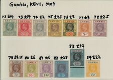 Gambia Stamps | KEVII | MH | Cat £140