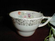 Salem China #SLM170 Gold 22k Filigree Edge & Floral Center Cup/s