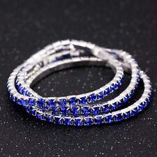 1pc Women Tennis Rhinestone Crystal Stretch Bracelet Party Bridal Bangle Hot