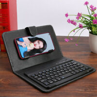 Portable PU Leather Mini Bluetooth Keyboard &Case Kit for iPhone Android Phone