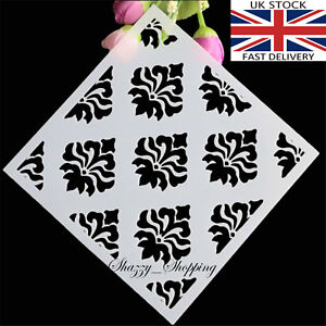 Stencils Layering Card making Scrapbooking Damask Pattern UK Seller Fast post