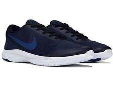 Men Nike Flex Experience RN 7 4E Running Shoes Black/Gym Blue AA7405-003