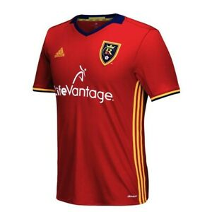 Real Salt Lake MLS Adidas Men's Red Official Climacool Team Replica Jersey