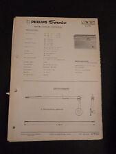 Original Service Manual Philips L1W32T Violette