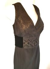 Kay Unger Women's Black Lace Bodice Cocktail Dress Size 8 Sleeveless Retail $448