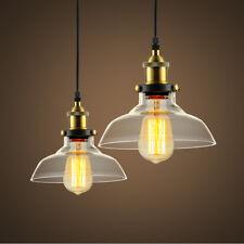 Retro Kronleuchter Hängeleuchte Deckenlampe Glasschirm Industrie Vintage loft 07