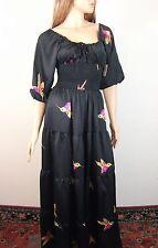T-Bags Los Angeles Bird Print Maxi Dress XS $225