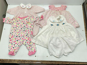 Carter's, bt Kids + Baby Girl Preemie  and 6-9 months Clothes, lot 4 Reborn Doll