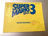 Super Mario Bros 3 Brothers III NES Nintendo Instruction Manual Guide Book Only