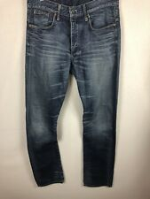 "G STAR RAW 3301 W34"" L36"" Jeans Straight Leg Dark Aged Tall Relaxed Fit"