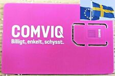 COMVIQ SWEDEN PREPAID SIM CARD ACTIVATED READY-TO-USE  [No cardboard package]