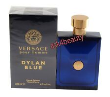 Versace Pour Homme Dylan Blue 6.7oz/200ml Edt Spray for Men New In Box