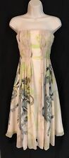 LISA HO Dress Size 4 US / AUS 8 Silk Chiffon Wedding Cream Blush Strapless Women