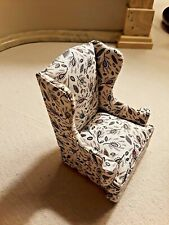 ONE  WING BACK UPHOLSTERED CHAIR, BY JOHN BAKER ,  DOLL HOUSE SIZE 1:12 scale