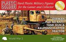 1/72 20MM GERMAN PAK40 AND RAUPENSCHLEPPER OST - PLASTIC SOLDIER - WW2