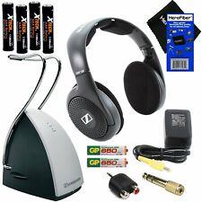 Sennheiser On Ear Wireless Headphones With Charging Dock -Black (RS120)+8 Pc.Kit