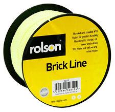 ROLSON BRICK LINE 100 METRES YELLOW - BRAIDED - NYLON - CHALK LINE