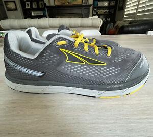 Men's Altra Zero Drop Running Shoes Size 11 Gray Yellow